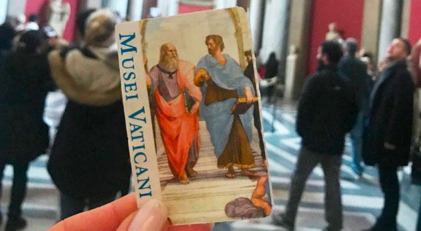 Billets mus es du vatican coupe file - Billet coupe file chapelle sixtine ...